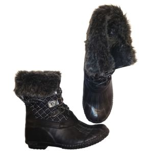 Stevie's Kids Winter Boots with Faux Fur Detail